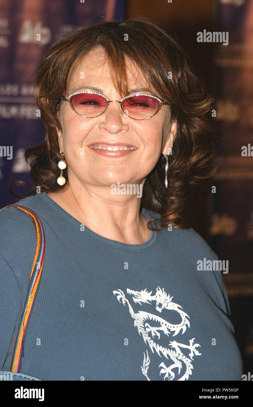 """Roseanne Barr  06/22/04 2004 LOS ANGELES FILM FESTIVAL """"FAHRENHEIT 9/11"""" @ Directors Guild of America, Los Angeles Photo by Kazumi Nakamoto/Hollywood News Wire File Reference # 33683 847HNWPLX Stock Photo"""