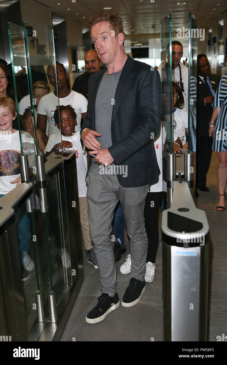 Damian Lewis and Helen McCrory taking part in the BGC Annual Global Charity Day 2018 - London  Featuring: Damian Lewis Where: London, United Kingdom When: 11 Sep 2018 Credit: WENN.com - Stock Image