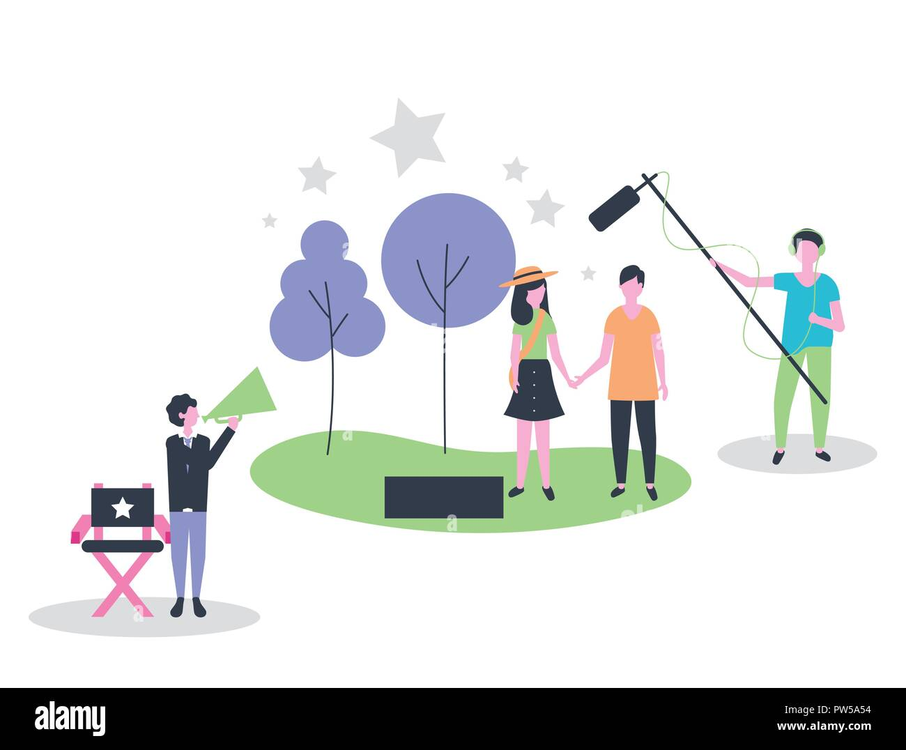 movie people production - Stock Image