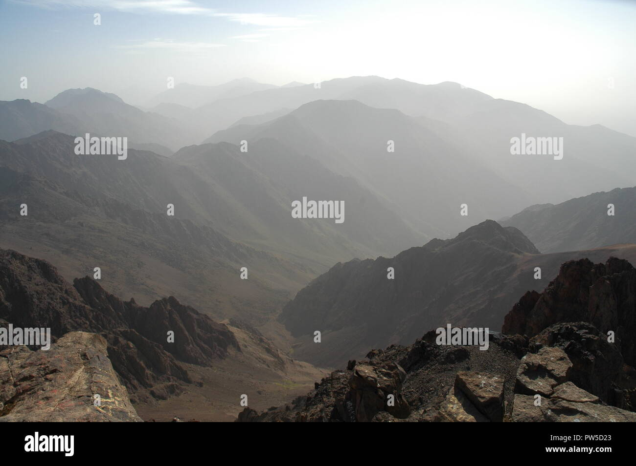 A Mountain View From The Top Stock Photo 222010827 Alamy