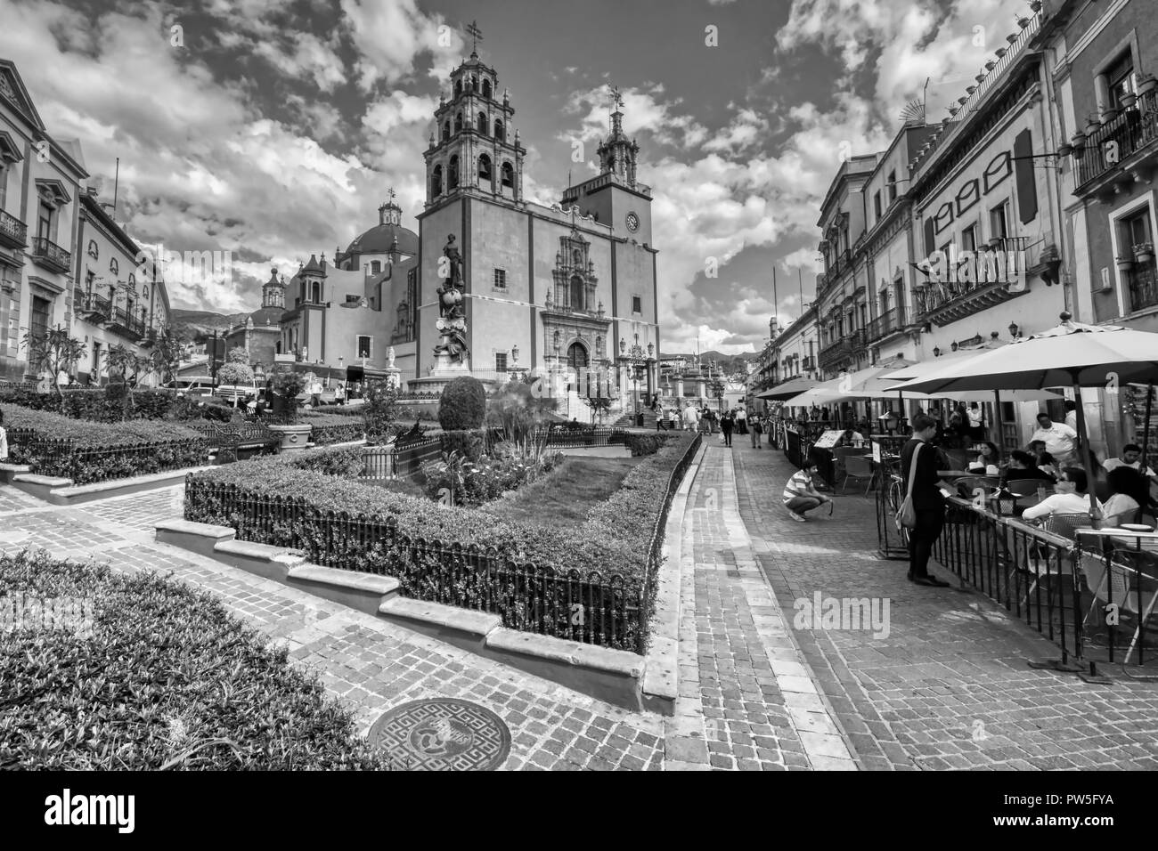 Plaza de la Paz en Guanajuato - Mexico - Stock Image