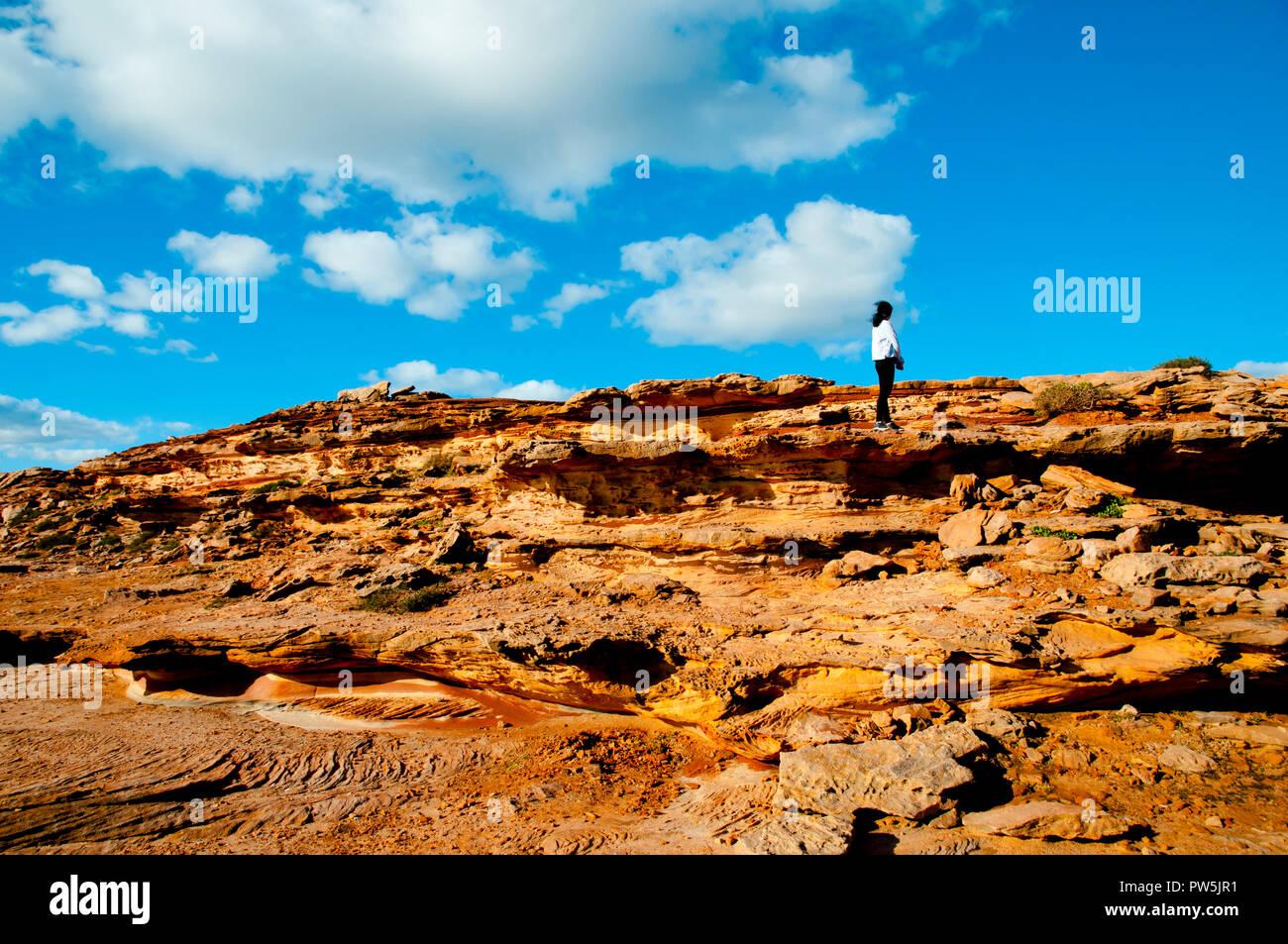 Red Bluff Sandstone - Kalbarri - Australia - Stock Image