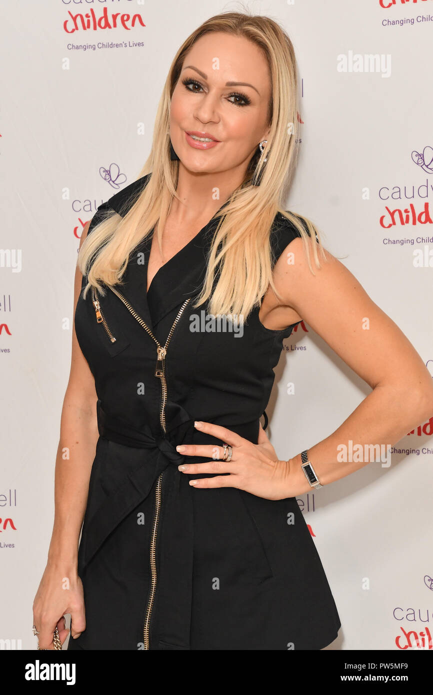 London, UK. 12th October, 2018. Kristina Rihanoff attends the Children's charity hosts fashion and beauty lunch event, with live entertainment at The Dorchester, London, UK. 12 October 2018. Credit: Picture Capital/Alamy Live News - Stock Image