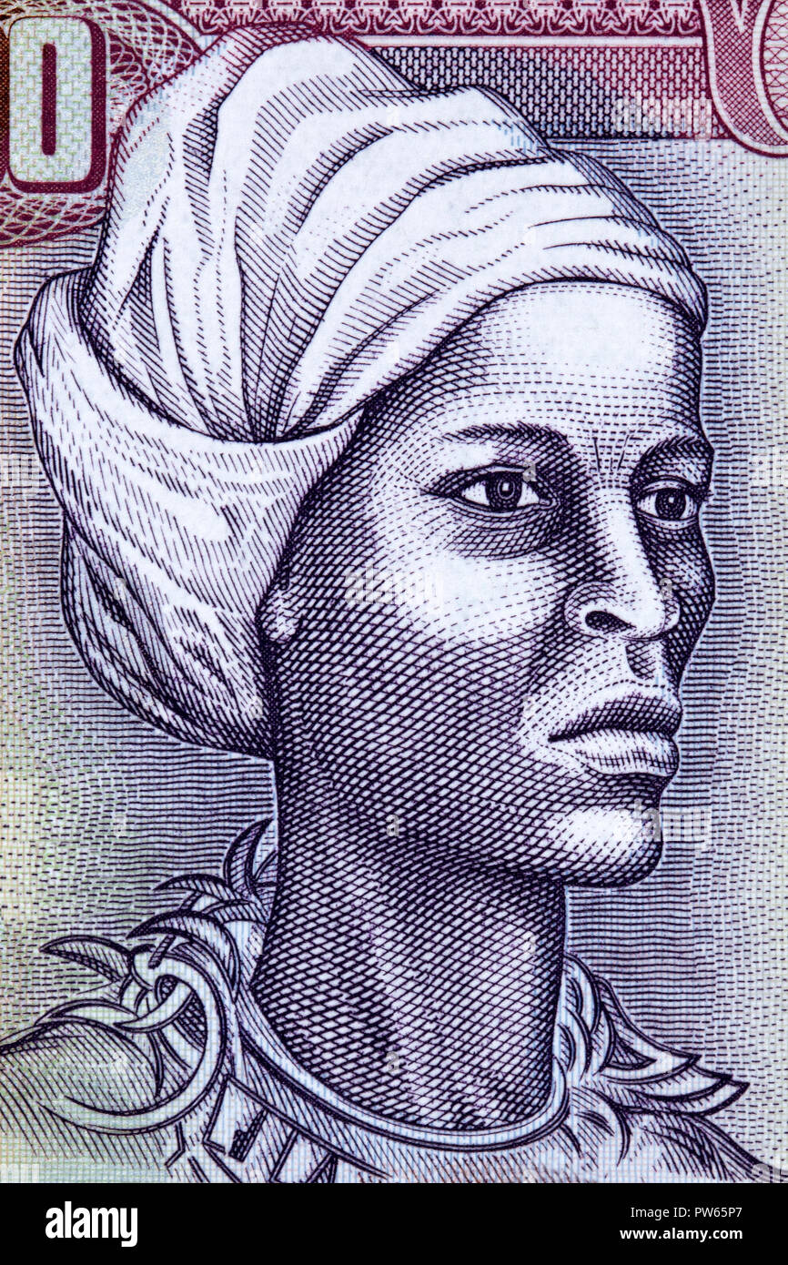 Nanny of the Maroons portrait from Jamaican money - Stock Image