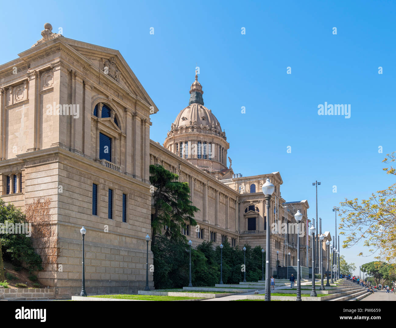 The National Art Museum of Catalonia - Museu Nacional d'Art de Catalunya (MNAC) - Parc de Montjuïc, Barcelona, Spain. - Stock Image