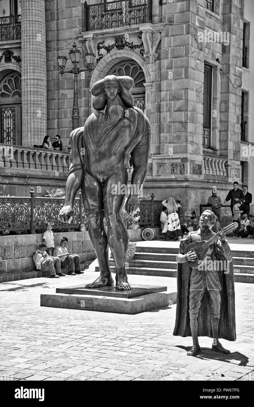 La Giganta - Jose Luis Cuevas - Guanajuato - Mexico - Stock Image