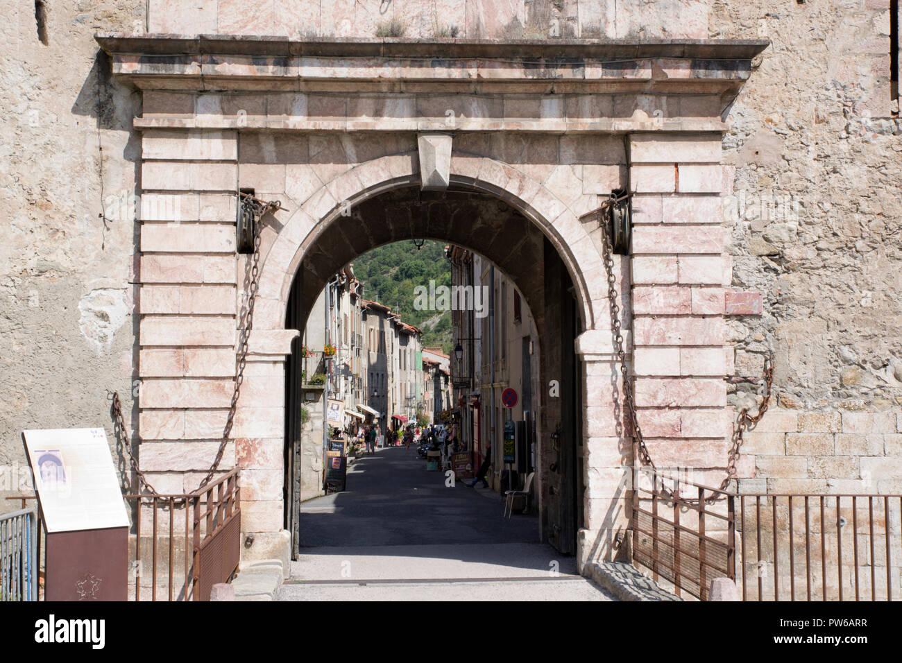 Villefranche-de-Conflent, Porte de'Espagne - Stock Image