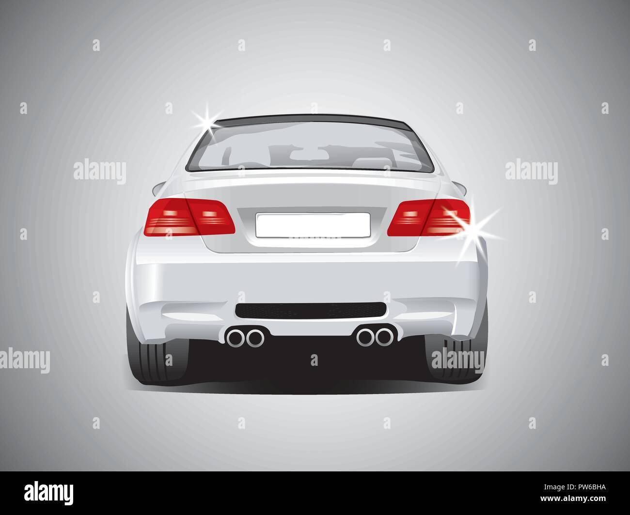 vector  sports car - back view - Stock Vector