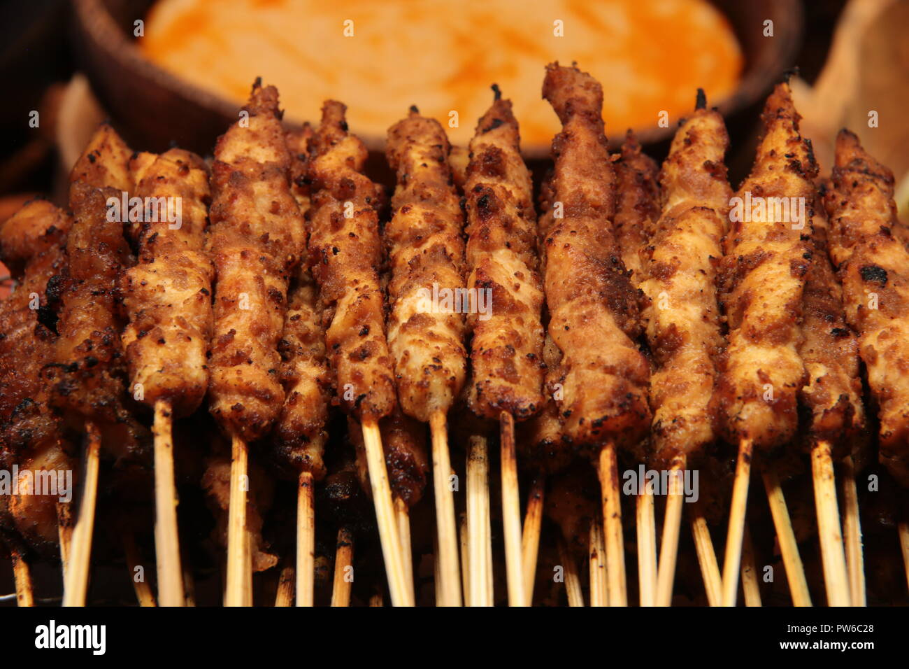 Sate Ayam Blora, the signature chicken satay from Blora regency in Central Java, Indonesia - Stock Image