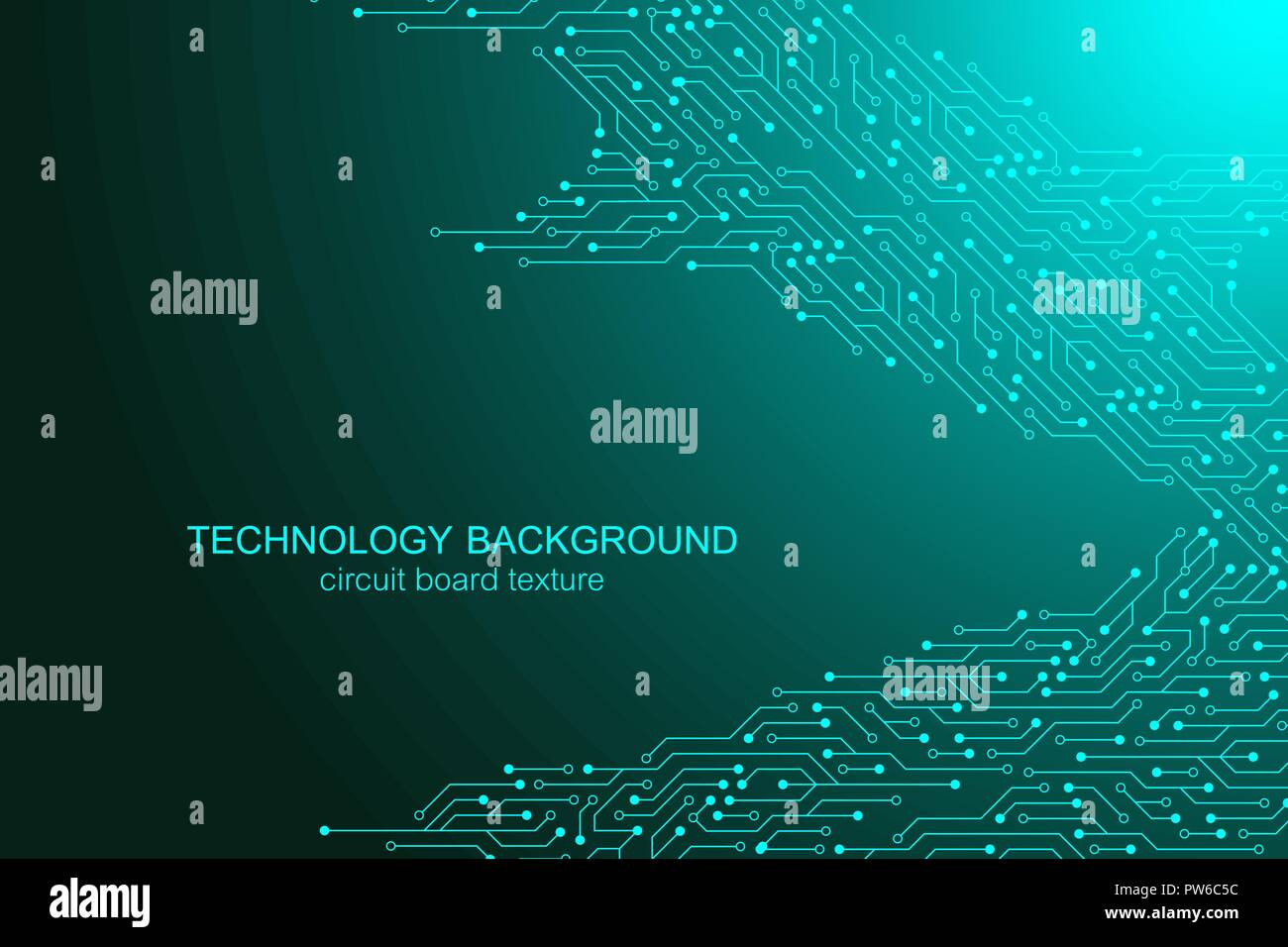 Computer Motherboard Vector Background With Circuit Board Electronic Printed Electronics Elements Texture For Technology Engineering Concept