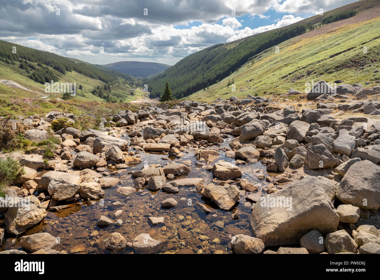 Glendasan Valley, Brockagh, Co. Wicklow, Ireland - Stock Image