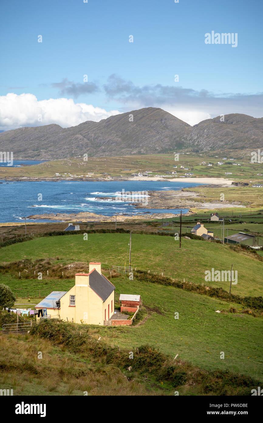 Views towards Allihies, Beara Peninsula, County Cork, Ireland, Europe. - Stock Image