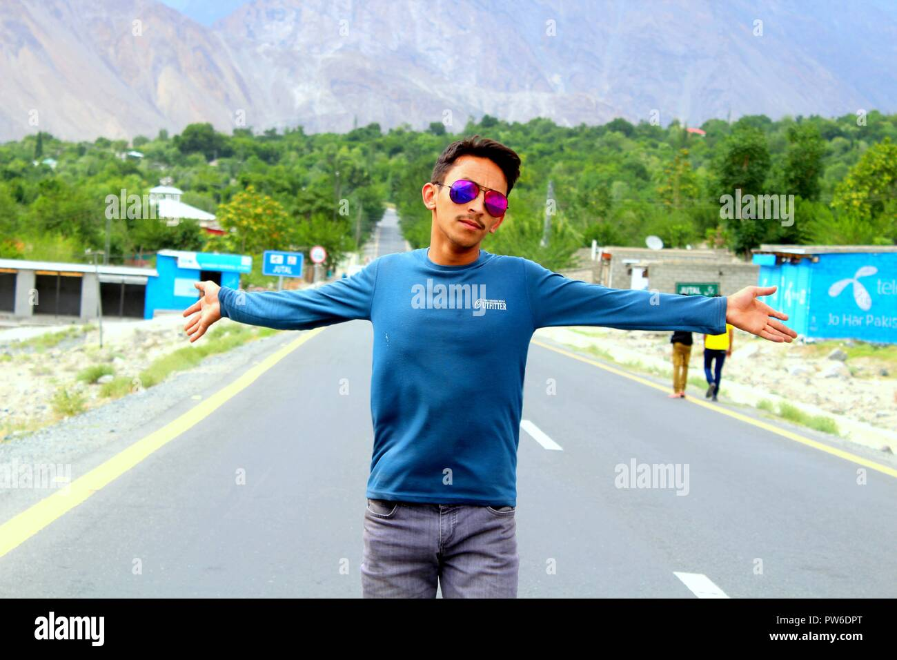 hello gyz i am danish gul from hunza - Stock Image