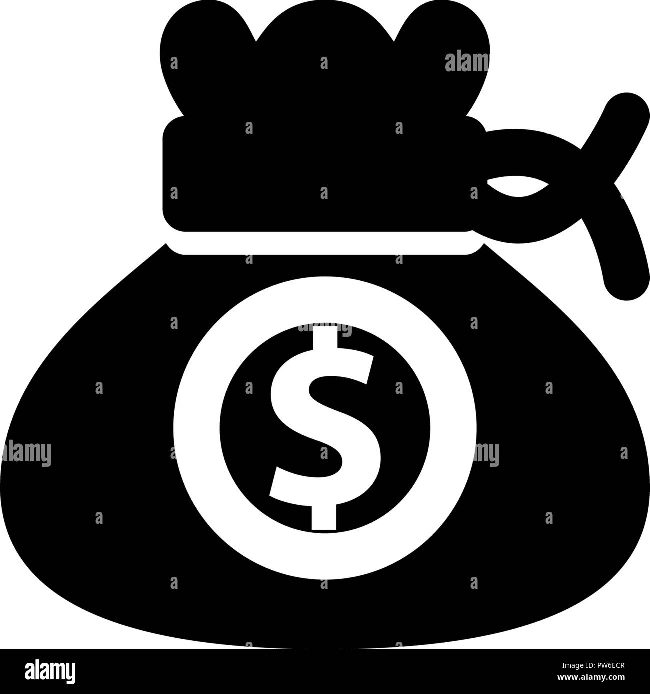 Money Template Solid Icon Isolated - Stock Vector