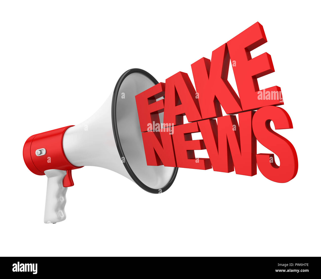 Hoax / Fake News Concept Isolated - Stock Image