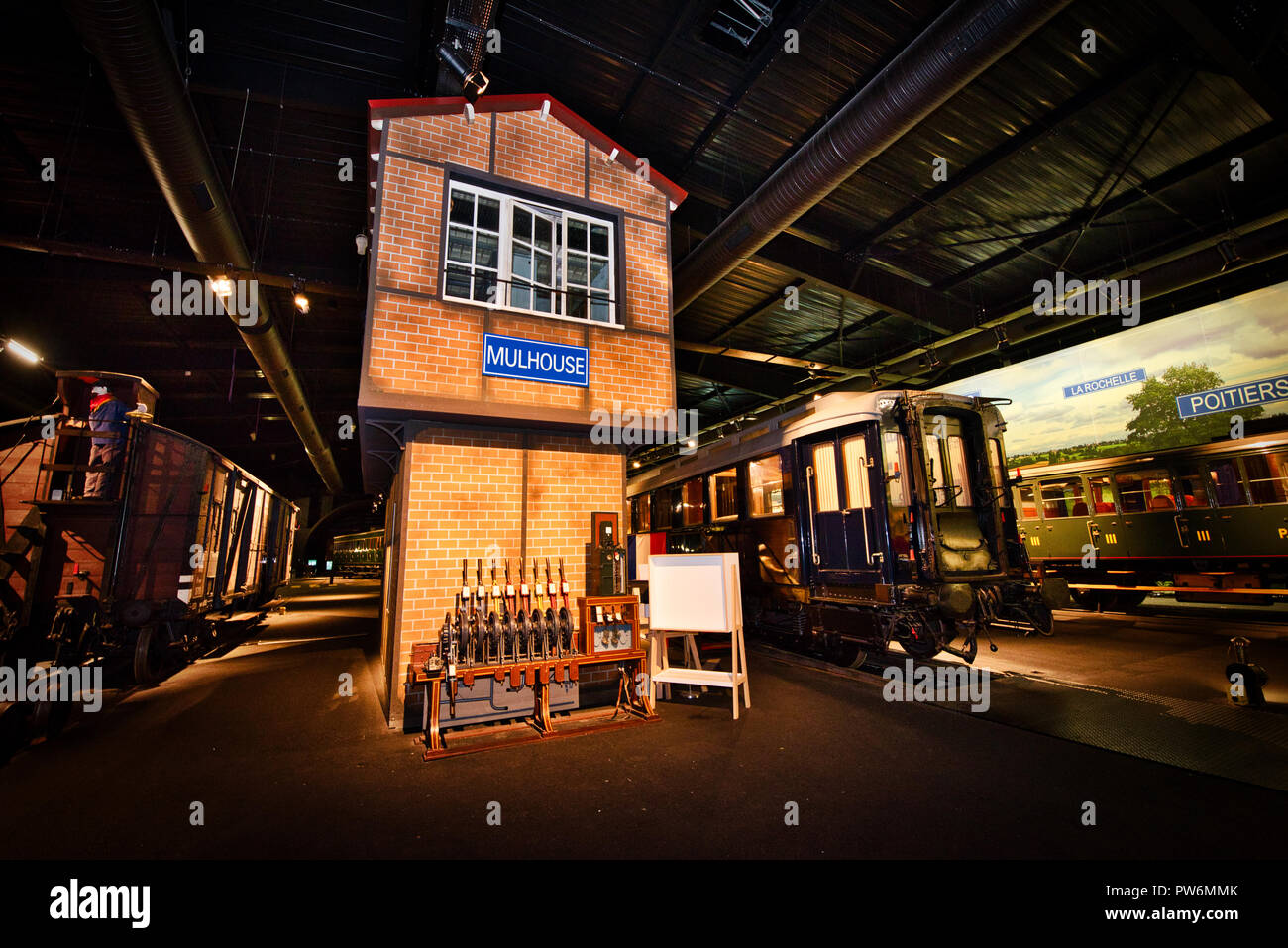 History Old Train Railway Museum Mulhouse France Stock Photo