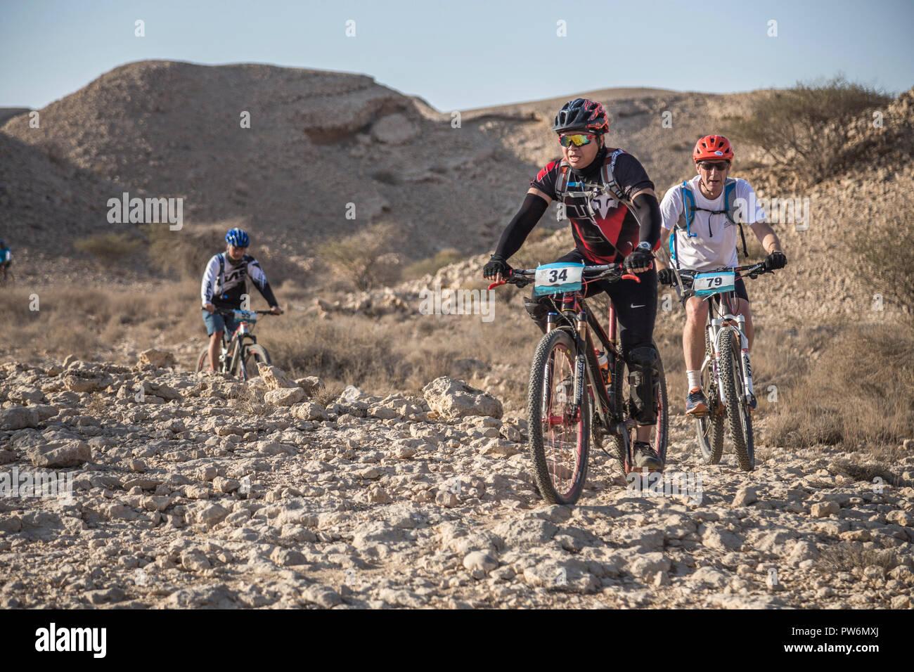 Mountain Bike  Race, Cross country, Muscat, Oman - Stock Image