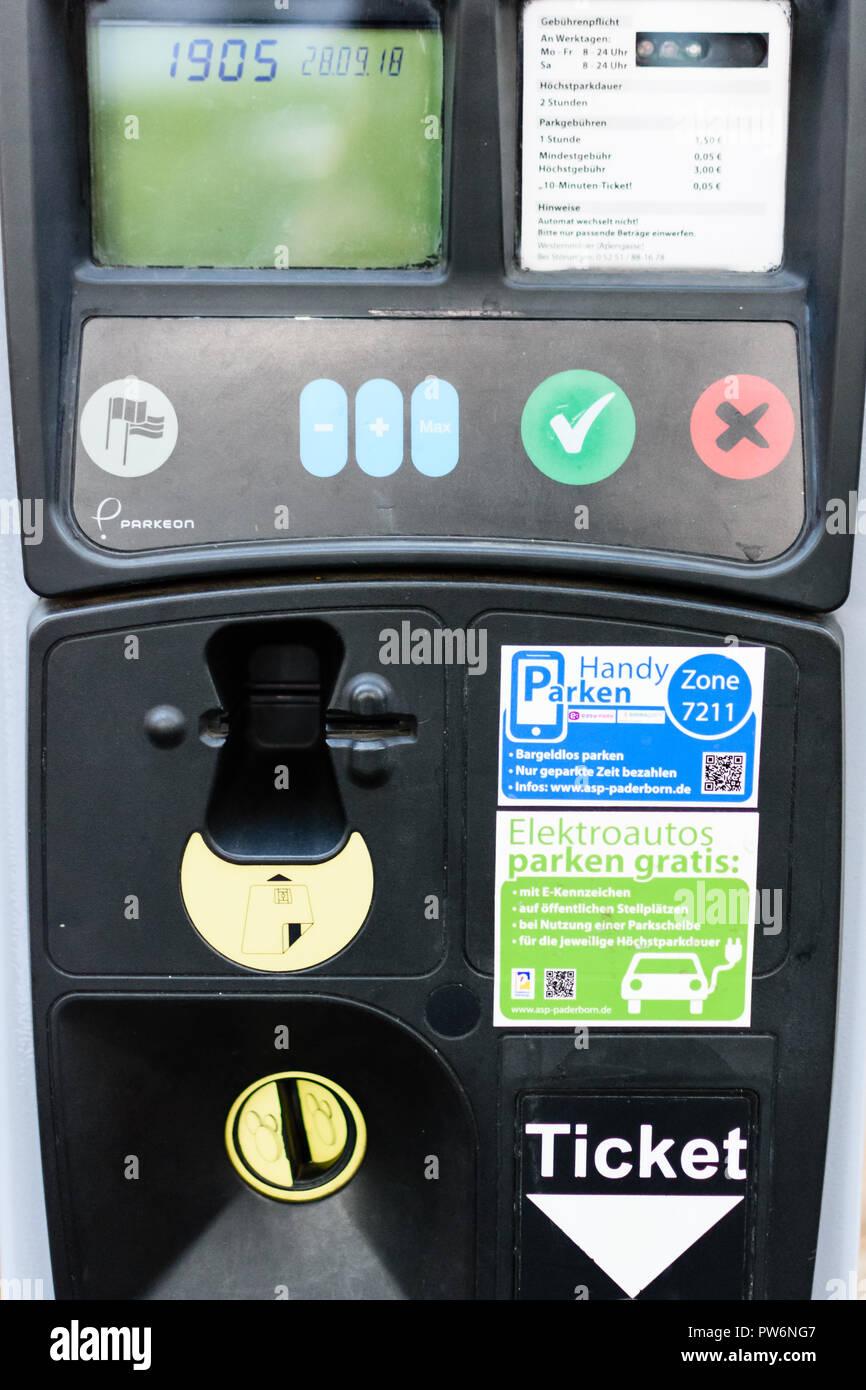 Parkticket automat - Stock Image