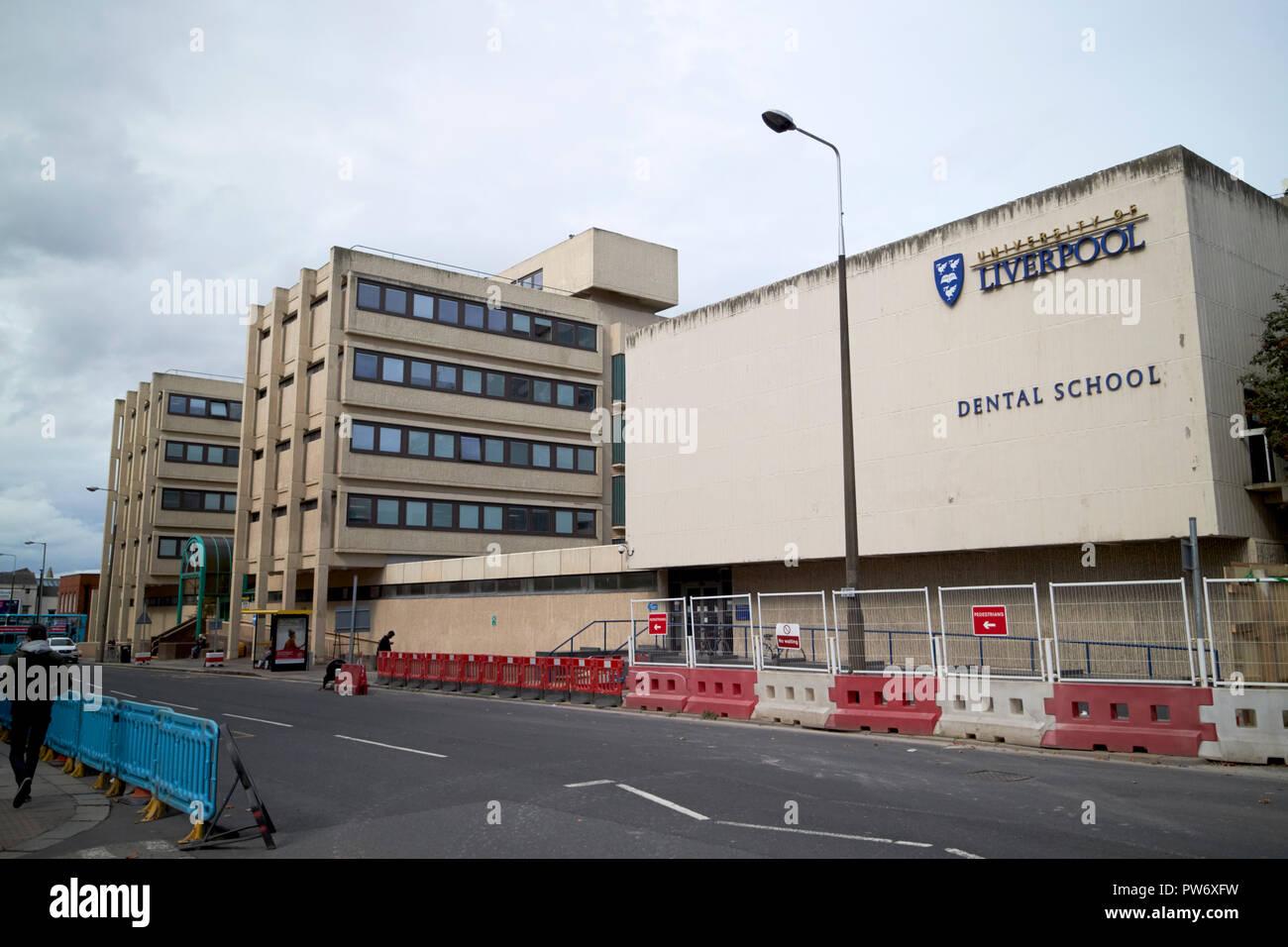 University of Liverpool dental school and liverpool university dental hospital Merseyside England UK - Stock Image