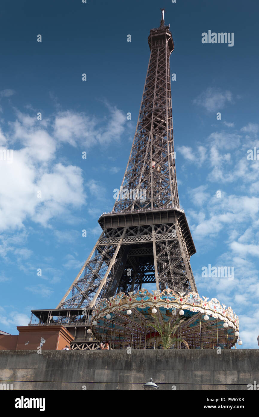 The Eiffel Tower, Paris, France - Stock Image