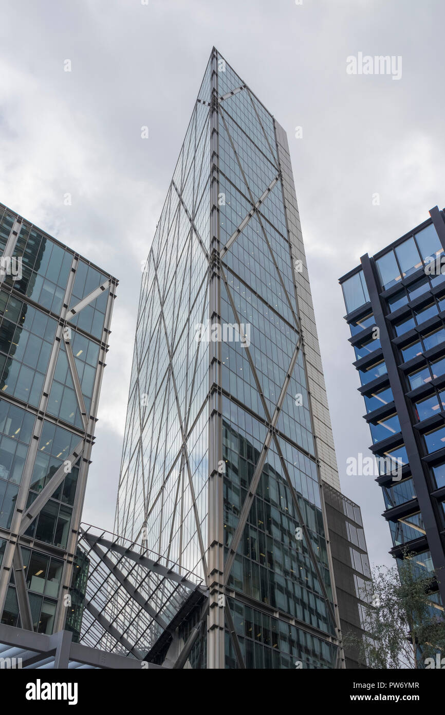 The Broadgate Tower, a skyscraper in London's main financial district, the City of London, England, UK - Stock Image