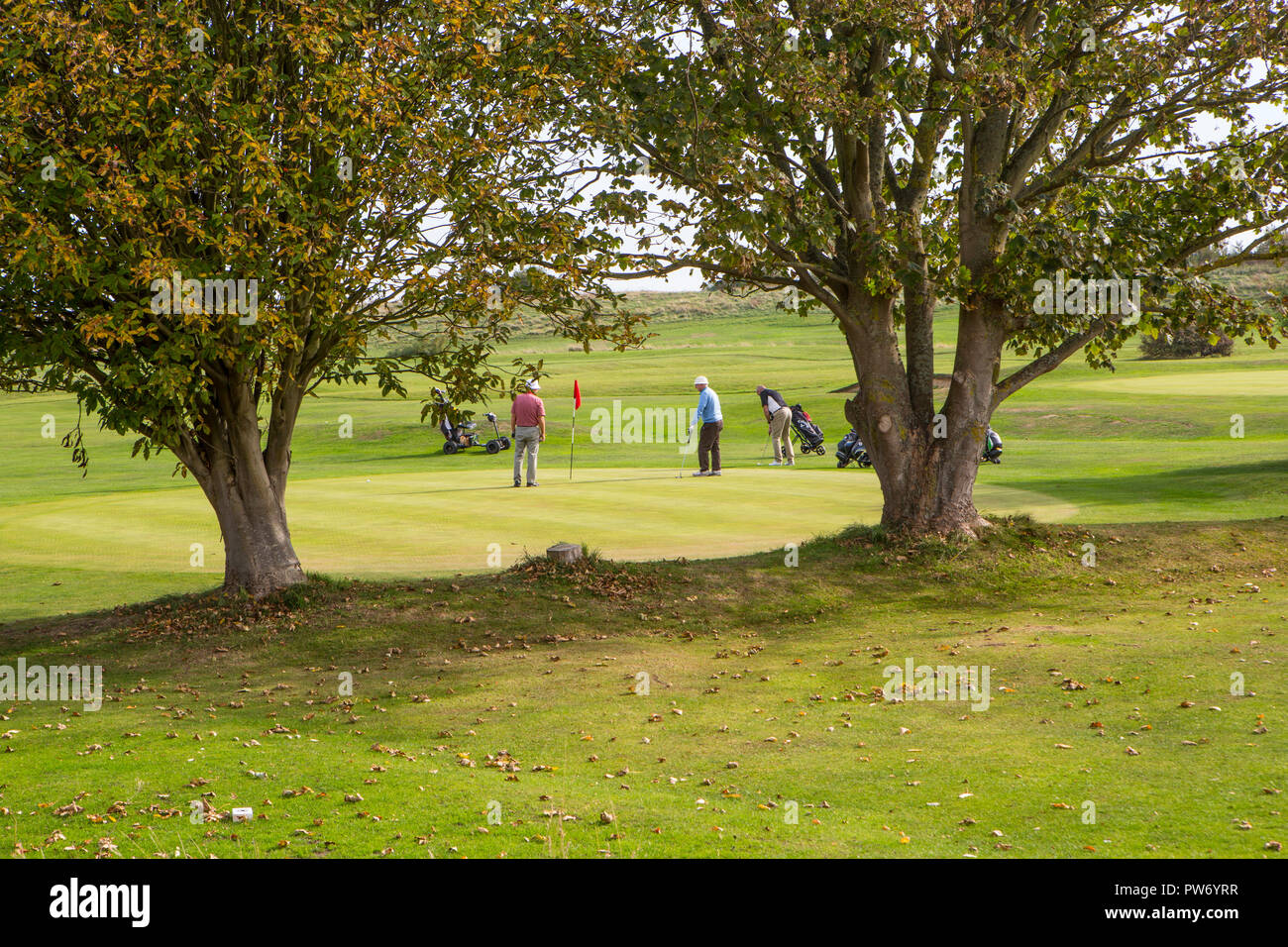 Weekend Golfers - Stock Image
