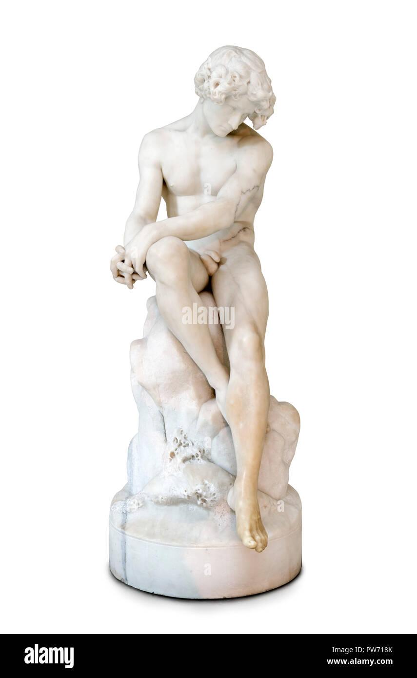 The Exile (O Desterrado)  by the Portuguese sculptor António Soares dos Reis (1857-1889), marble, 1872 Stock Photo