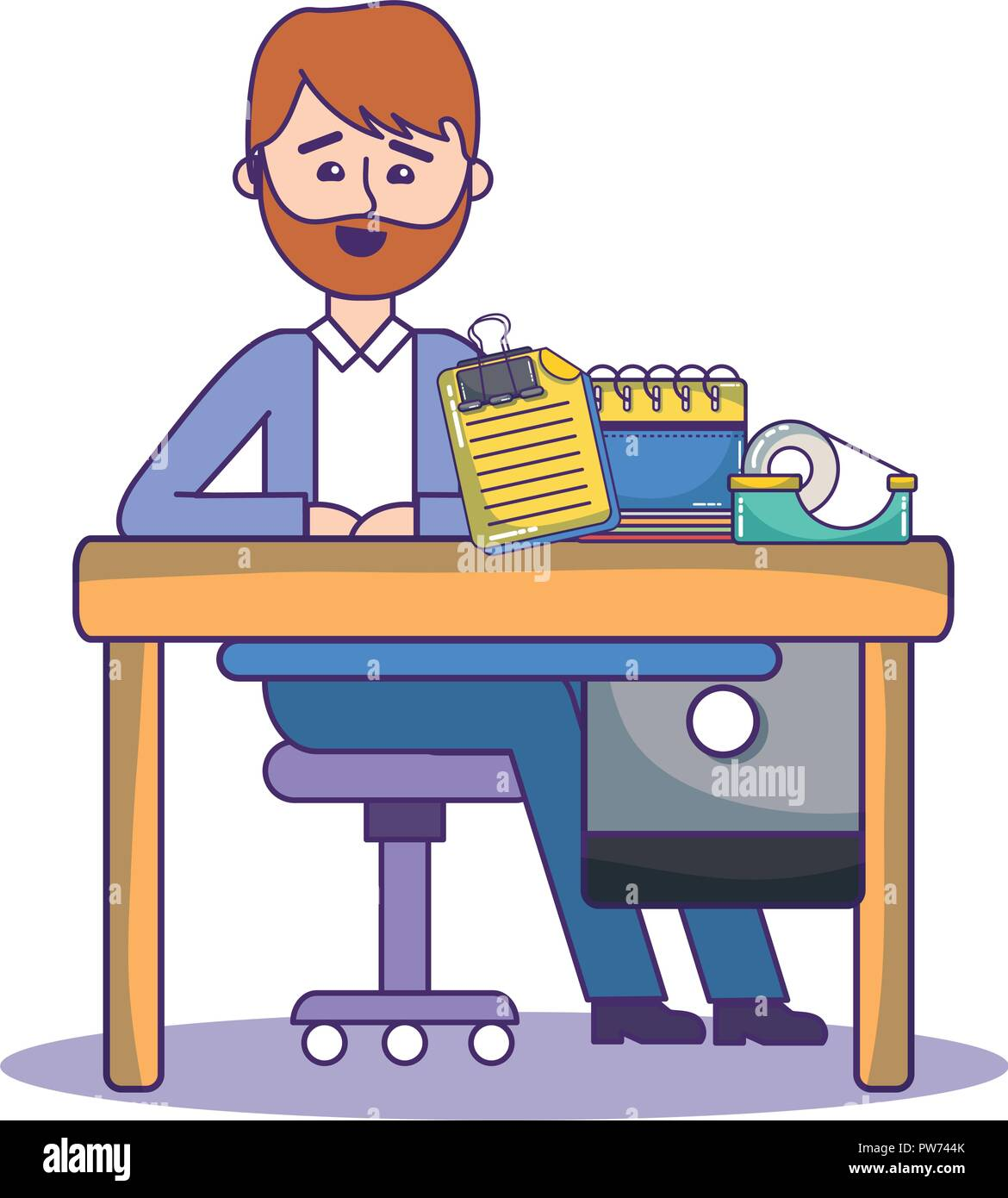 Businessman and office - Stock Image