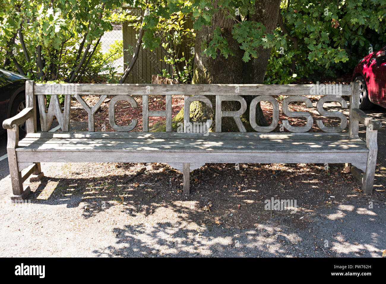 Excellent Ornate Long Wooden Garden Bench Seat With Carved Lettering Creativecarmelina Interior Chair Design Creativecarmelinacom