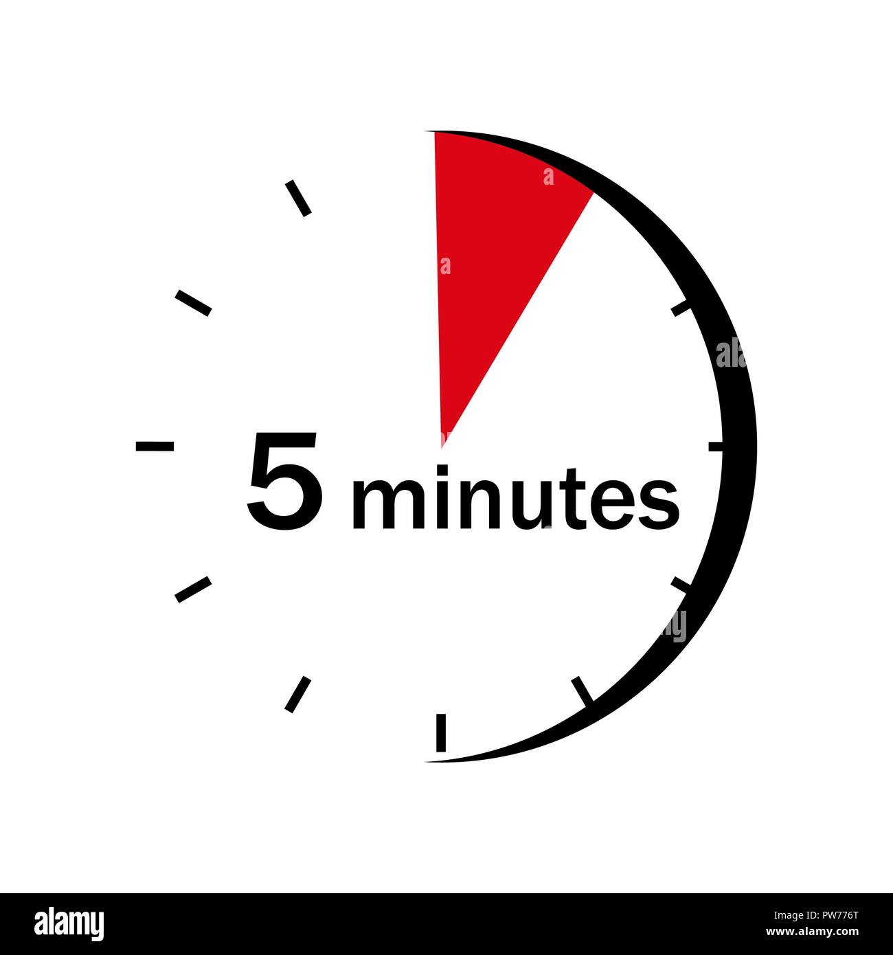 On The Face Of The Clock Marked Red Sector A 5 Minute Stock