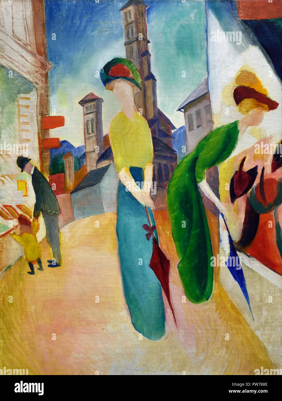 Two Women before the Hat Shop 1913 August Macke 1887-1914 German Germany Stock Photo