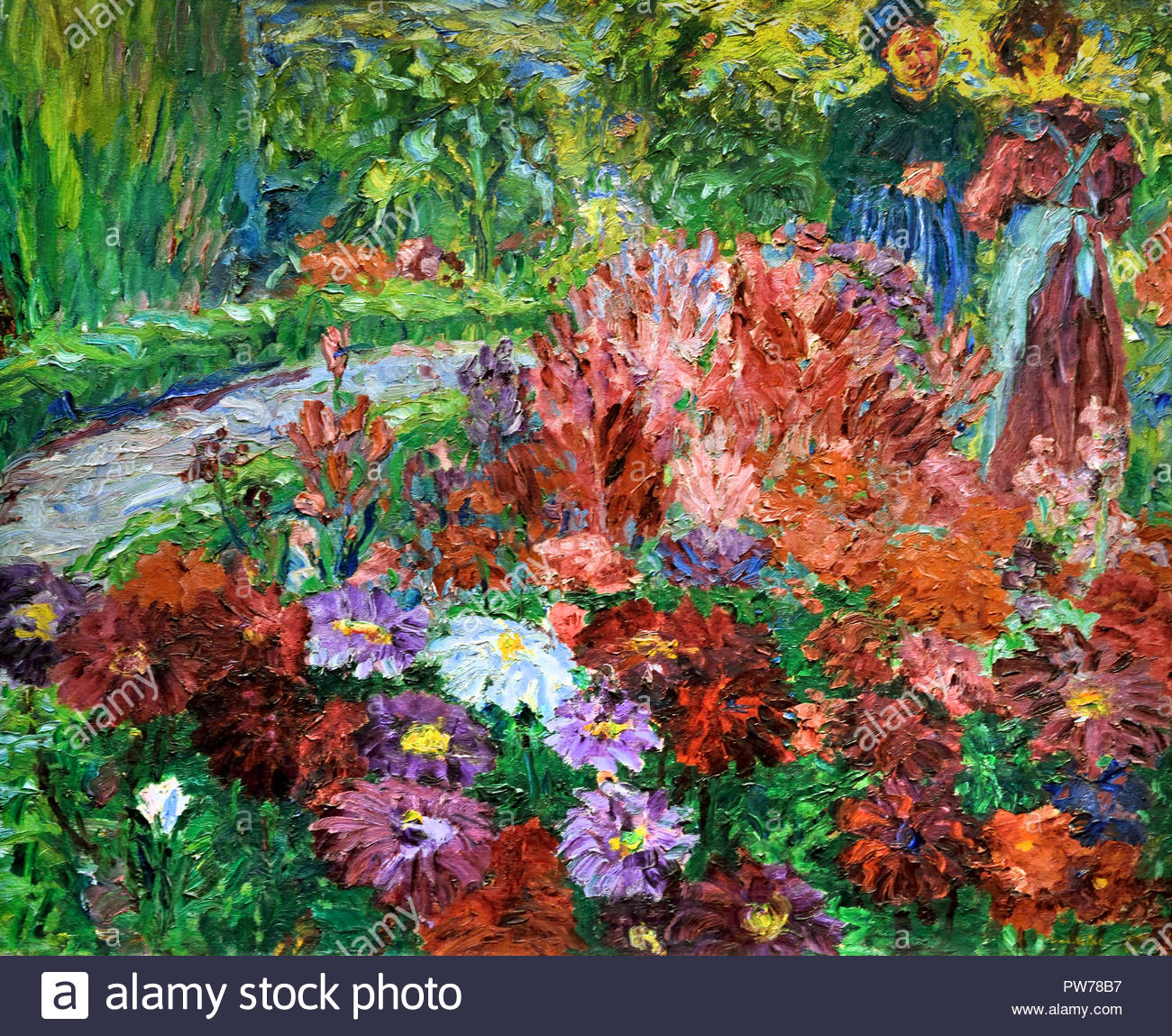 Flower Garden 1908 by Emil Nolde Danish Painter Denmark - Stock Image