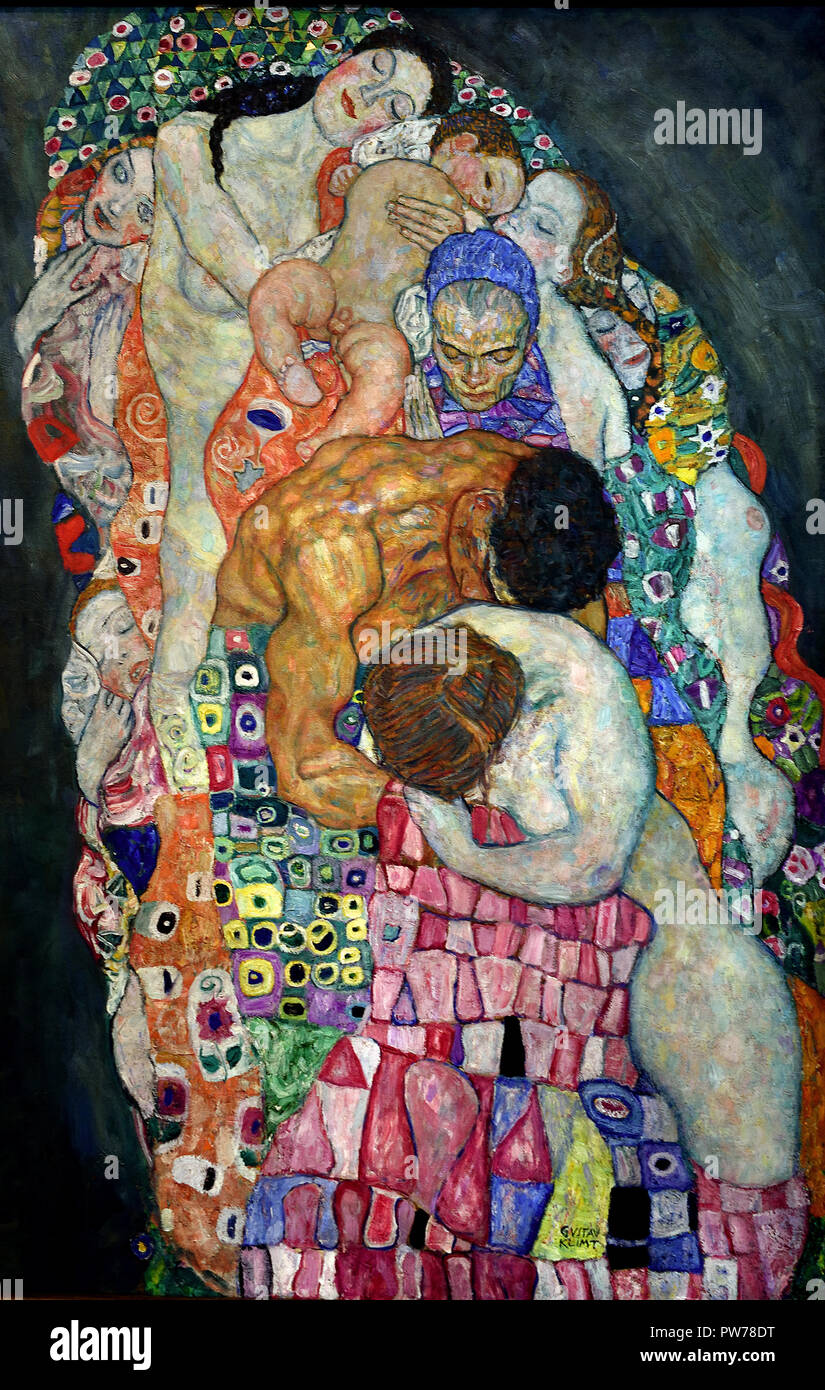 Death and Life 1910/1915, Gustav Klimt 1862 – 1918 Austrian symbolist painter of the Vienna Secession movement Austria - Stock Image