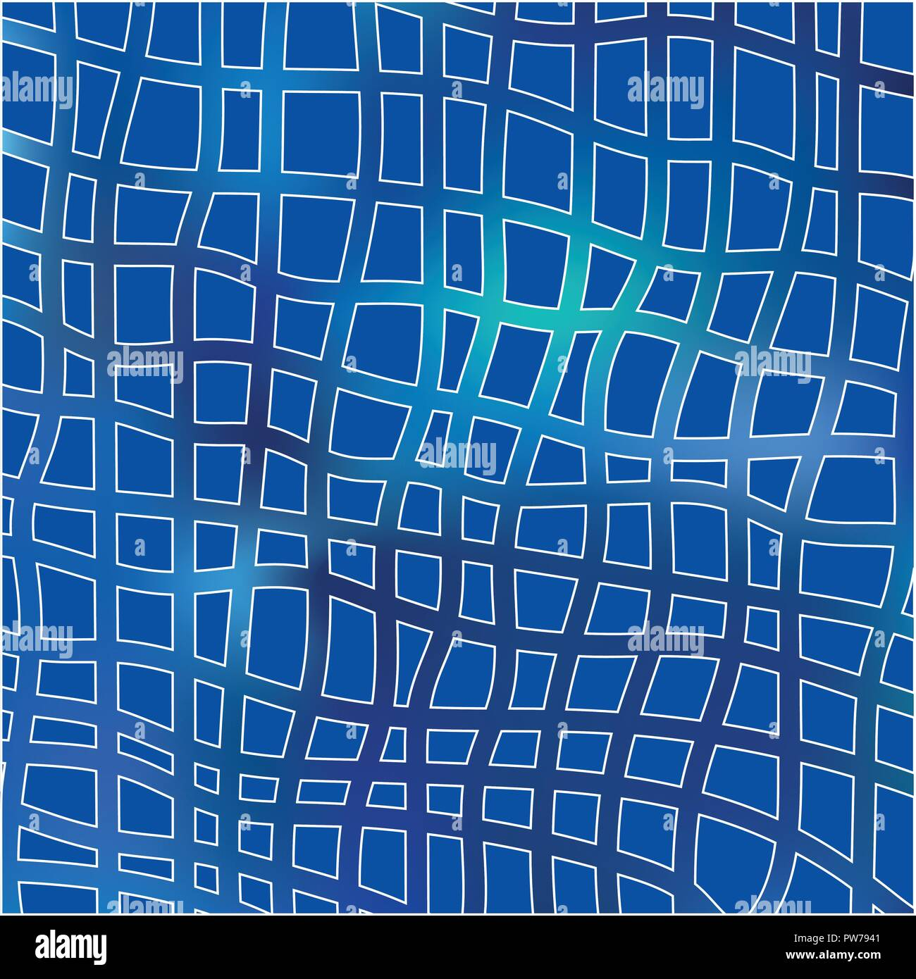 blue grid mosaic background creative vector template design stock