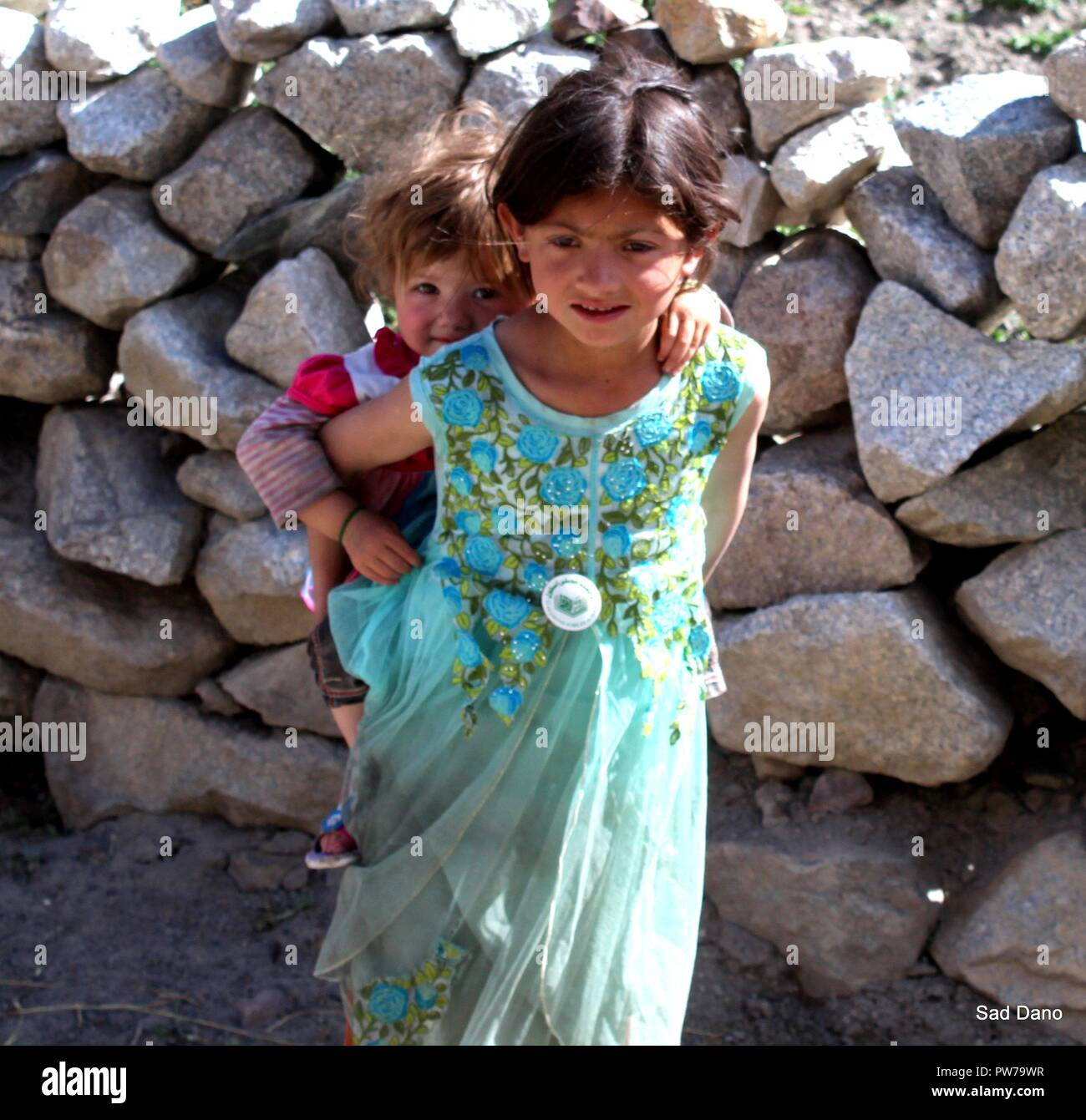 hello friends this baby is from hunza gojal chapursan - Stock Image