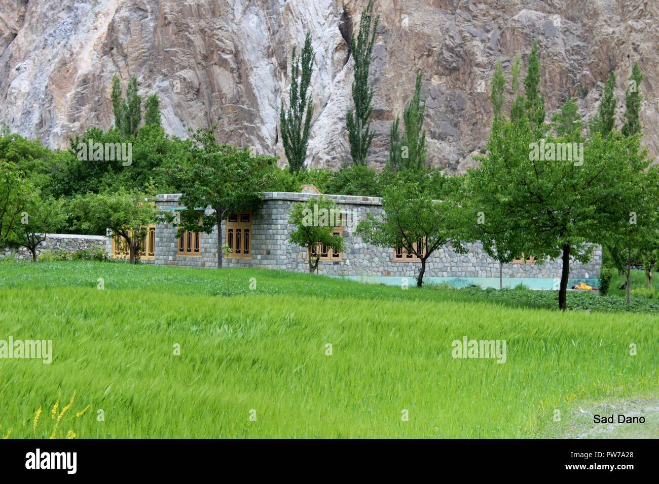 hello this is my click in hunza gojal - Stock Image