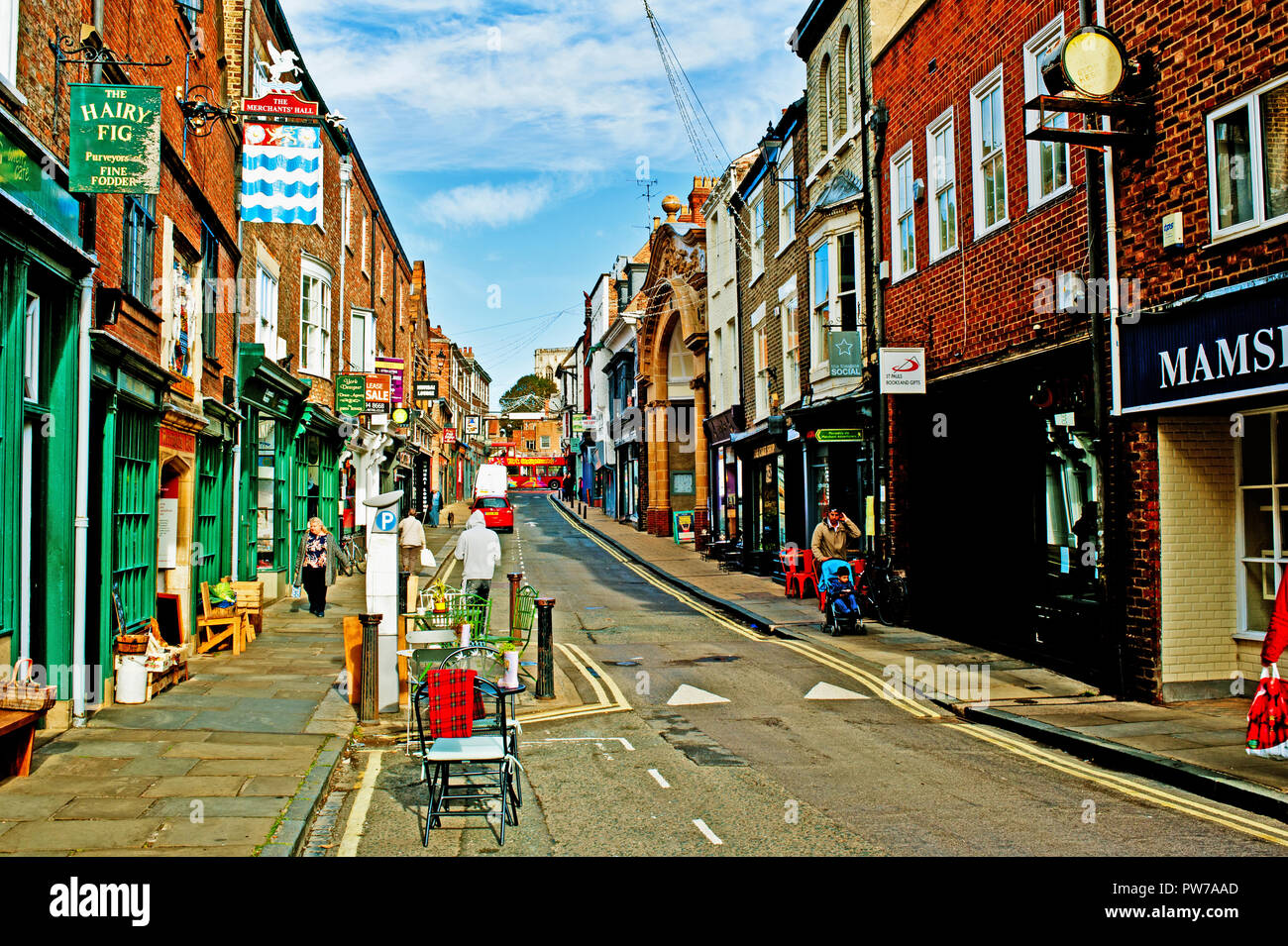 Fossgate, York, England - Stock Image