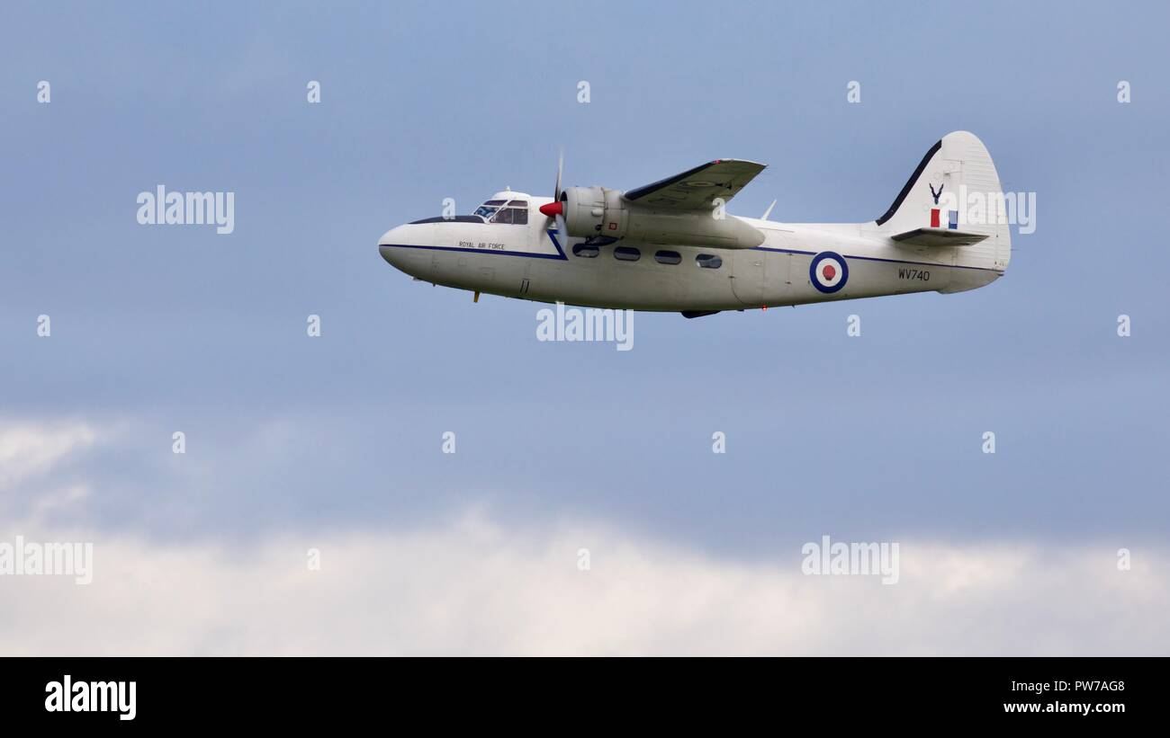 Percival Pembroke C1 flying at the IWM Duxford 2018 Battle of Britain airshow - Stock Image