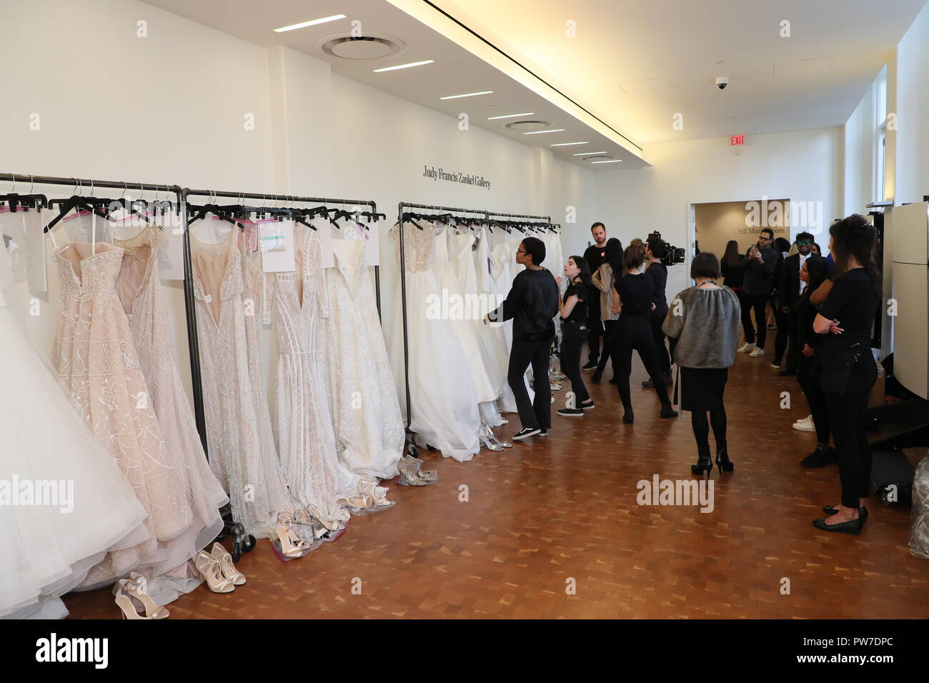 7ba61a41f0ac NEW YORK, NY - APRIL 13: General atmosphere backstage before the Justin  Alexander Spring 2019 Bridal Fashion show on April 13, 2018 in New York  City.