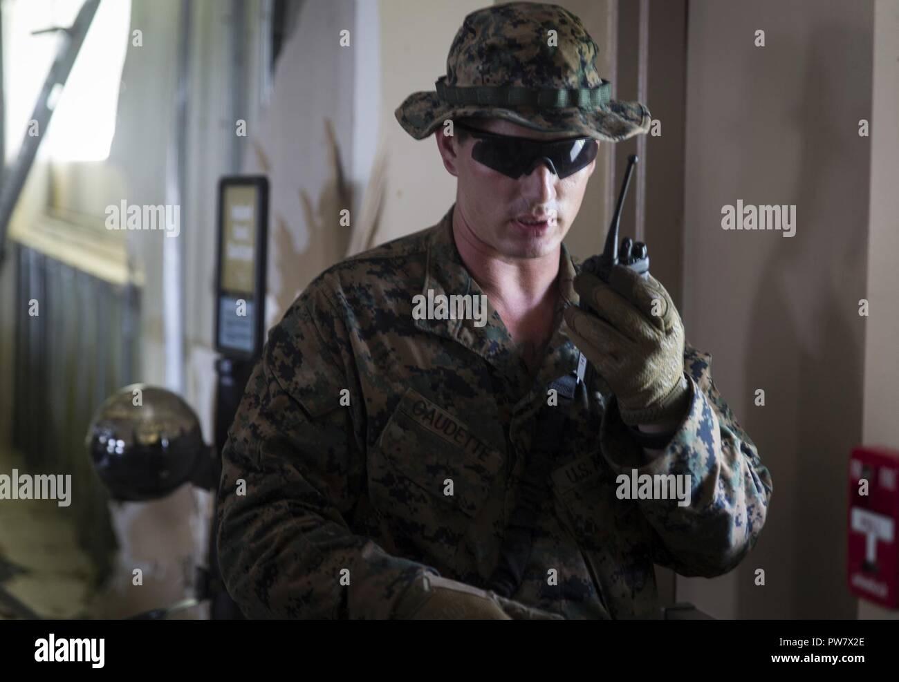 Us Marine Sgt David Gaudette With Joint Task Force Leeward