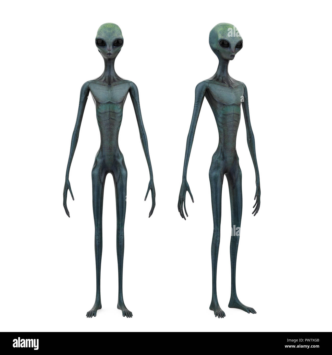 Alien Creature Isolated - Stock Image