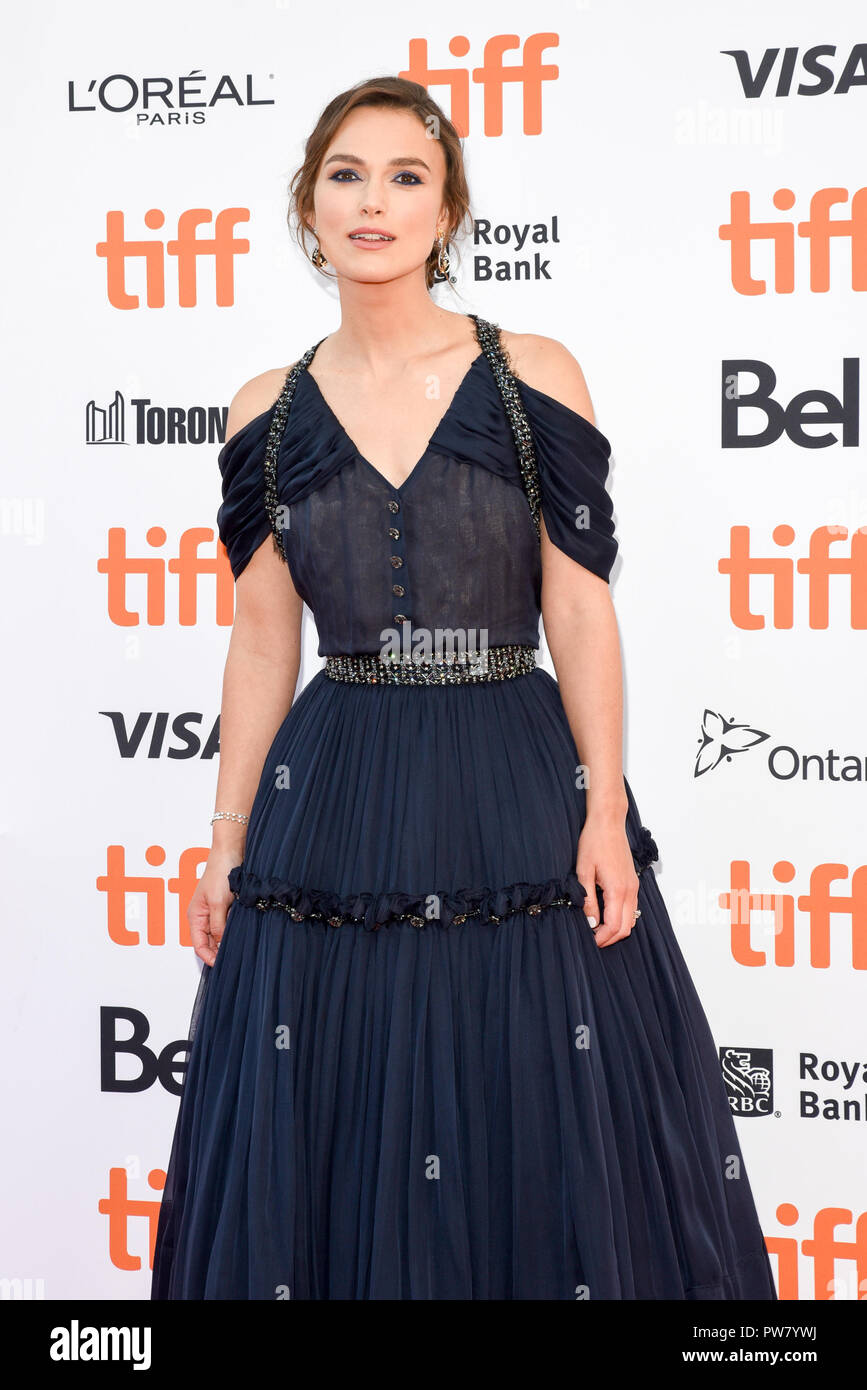 43rd Toronto International Film Festival - Colette - Premiere  Featuring: Keira Knightley Where: Toronto, Canada When: 11 Sep 2018 Credit: Jaime Espinoza/WENN.com Stock Photo