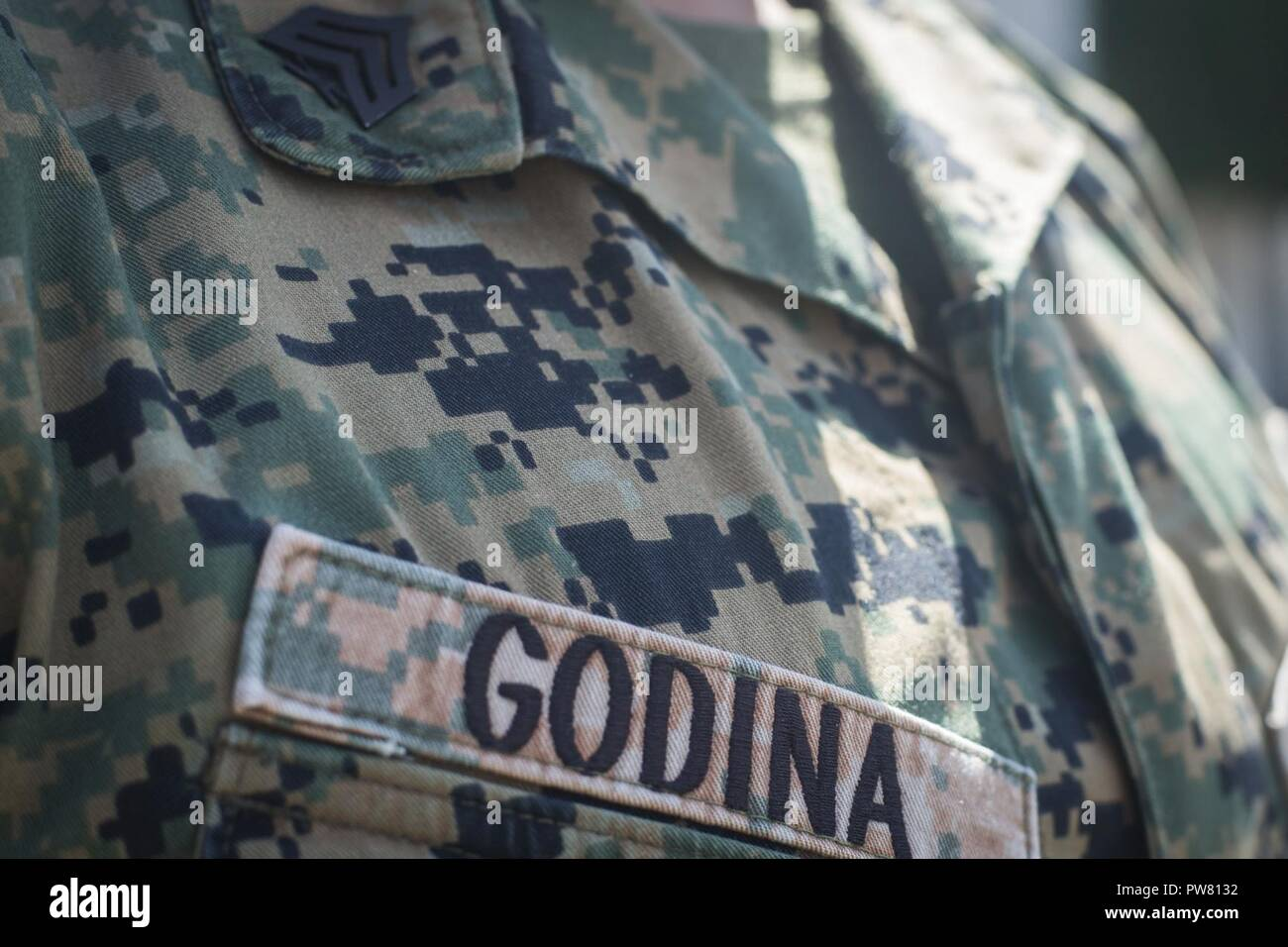U S  Marine Corps Sgt  Adolfo Godina Jr , a motor transport
