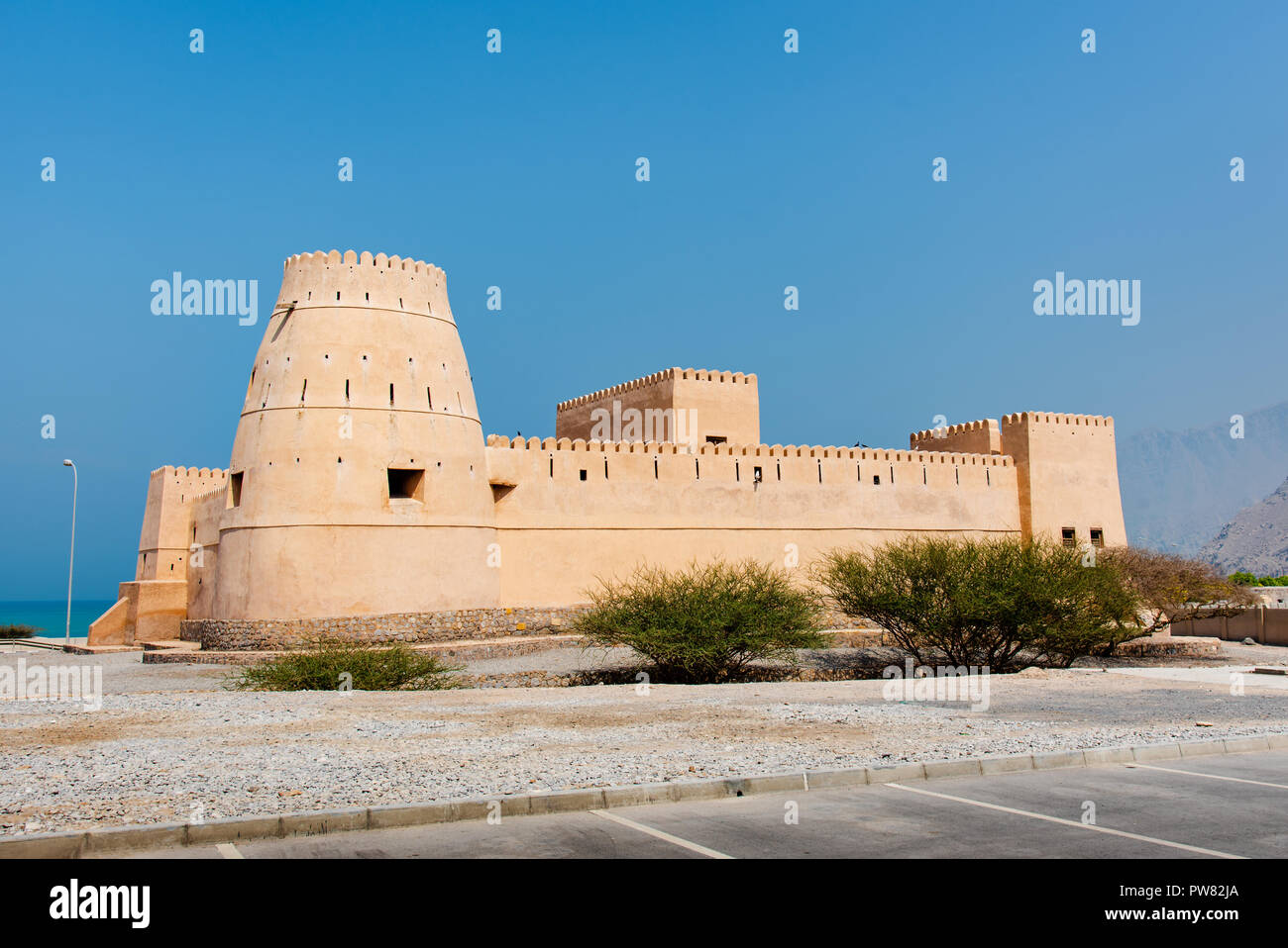 Bukha fort in Musandam Oman, Middle eastern architecture Stock Photo