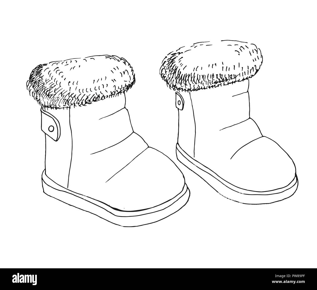Childrens Shoes Black and White Stock Photos & Images - Alamy