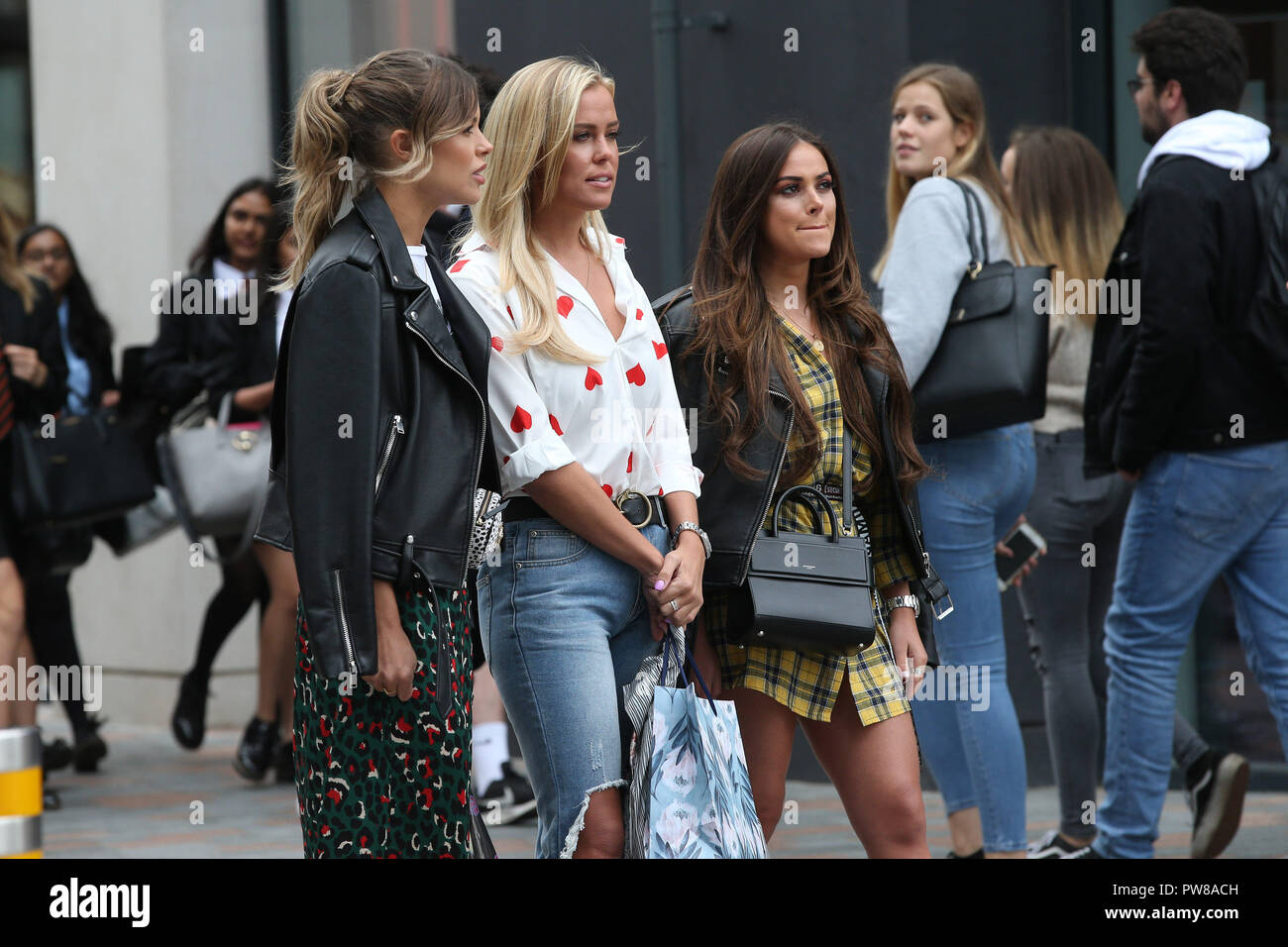 The cast of TOWIE film scenes in Chelmsford, Essex  Courtney