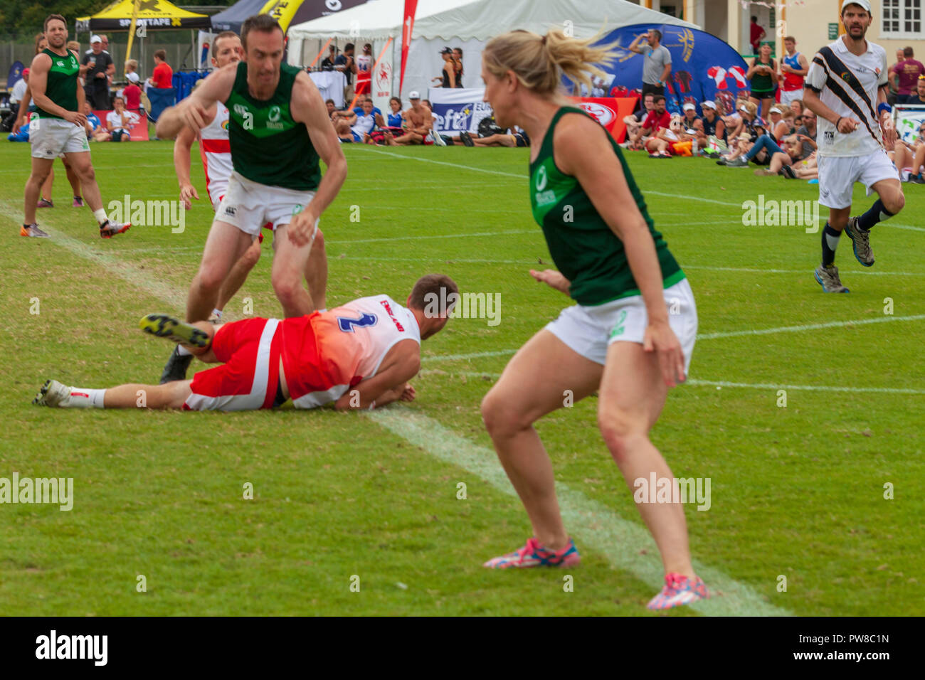 touch rugby European finals in Nottingham 2018 Stock Photo