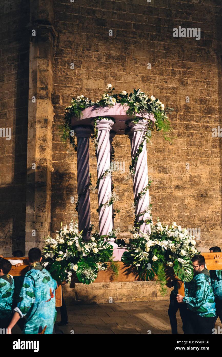 Las Falles Spring Festival, Valencia, Spain, 2018 Unesco Intangible Cultural Heritage - Stock Image