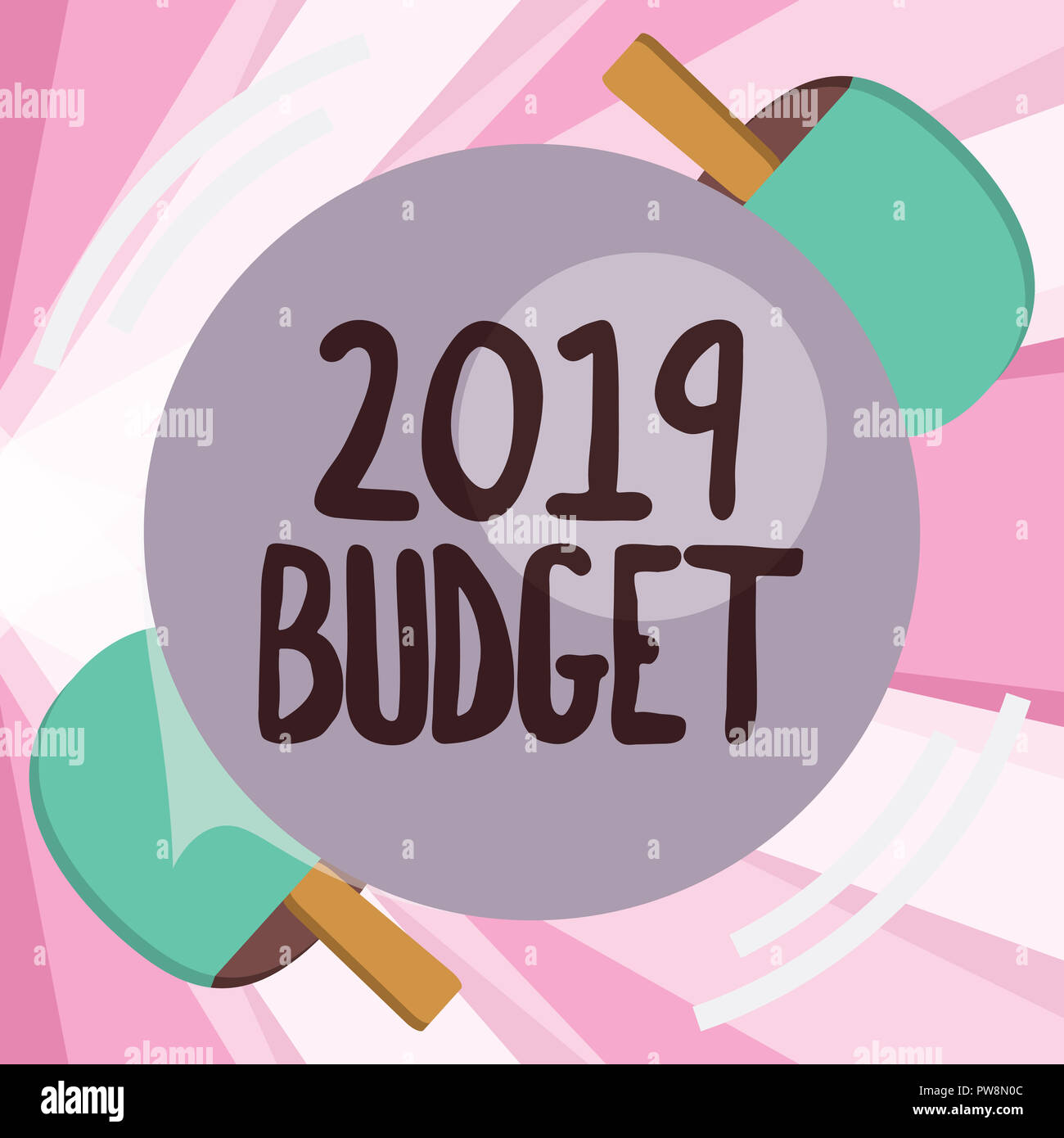 conceptual hand writing showing 2019 budget business photo
