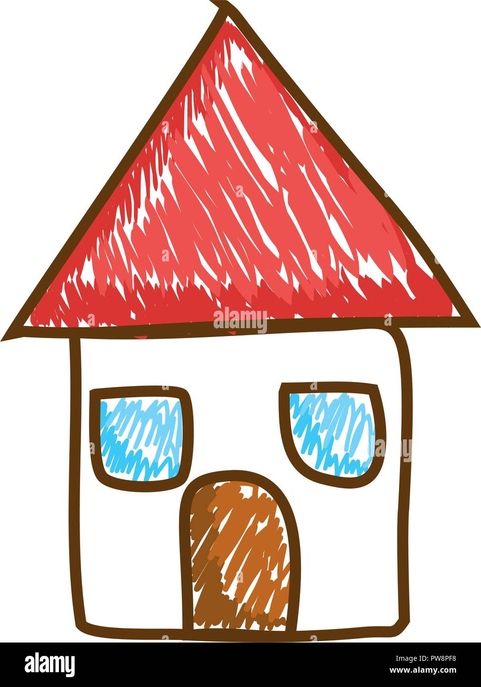 cute house drawing icon vector illustration design - Stock Vector